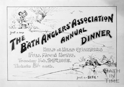 Bath Anglers Association Annual Dinner, Feb 24th 1925