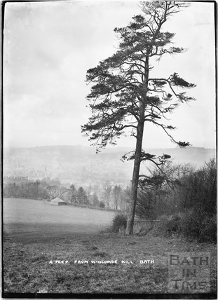 A Peep from Widcombe Hill, Bath c.1920s