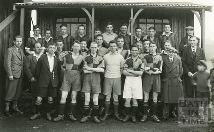 Unidentified football team in Bath, c.1910