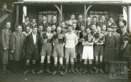 Unidentified football team in Bath, c.1910