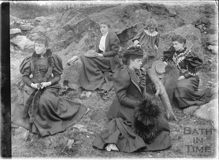 Ladies at Bathampton Rocks c.1910