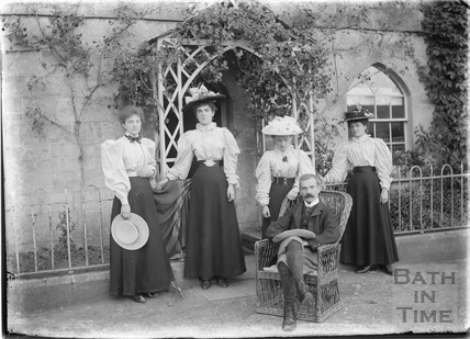 Family outside Tucking Mill House c.1910