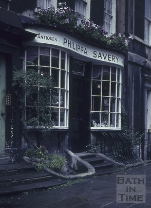 Philippa Savery antiques, 2, Abbey Street, Bath 1960s