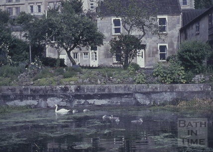 Canalside buildings, Sydney Place, Bathwick, Bath 1960s