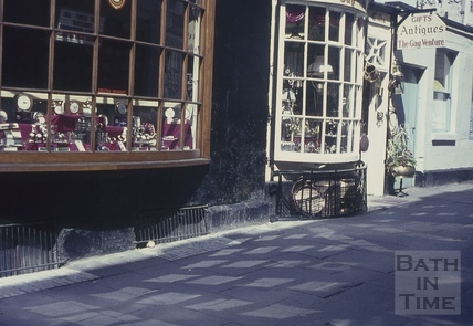 Bow fronted shop, Abbey Street, Bath 1960s
