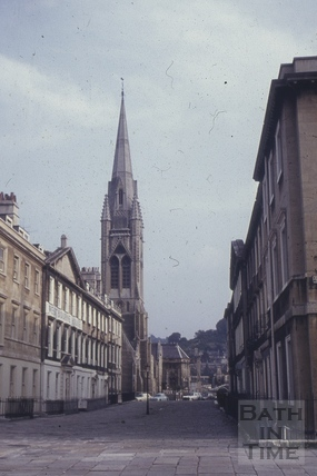 Duke Street and St. John the Baptist Church, North Parade, Bath 1960s