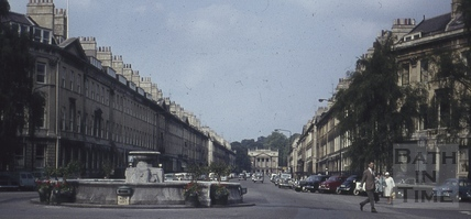 Laura Place and fountain, Bath 1960s