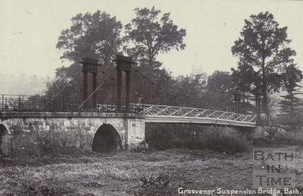 Grosvenor Suspension Bridge, Bath c.1910