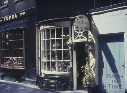 The Gay Venture antique shop, 5, Church Street, Bath 1960s