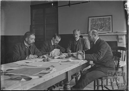 Unidentified group pf men working c.1910s