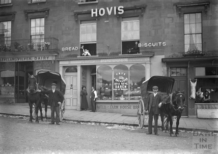 Outside the shops on Bathwick Hill c.1910s
