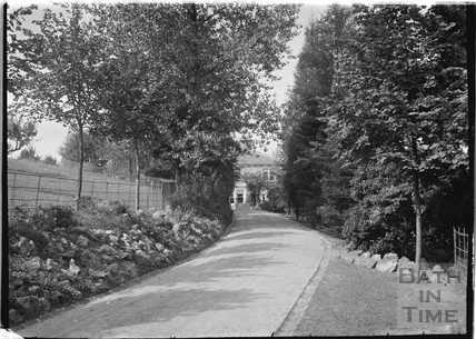 Drive up to Monkton House, Warminster Road, Limpley Stoke c.1920s