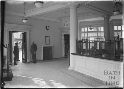 Inside Bath Post Office, Northgate Street c.1927