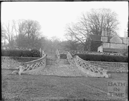 The steps leading to the demolished old Claverton Manor c.1920s