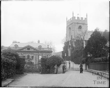 Widcombe Manor and church c.1905