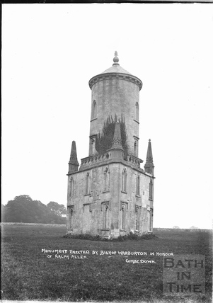 Ralph Allen's Monument, Monument Fields, Combe Down c.1905
