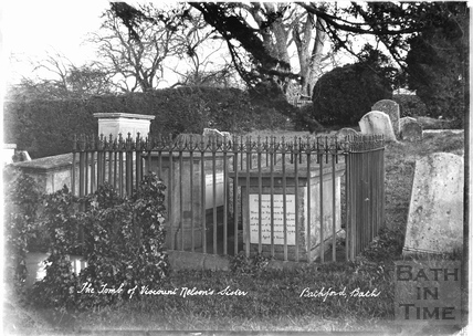 The Tomb of Viscount Nelson's sister, Bathford c.1920s