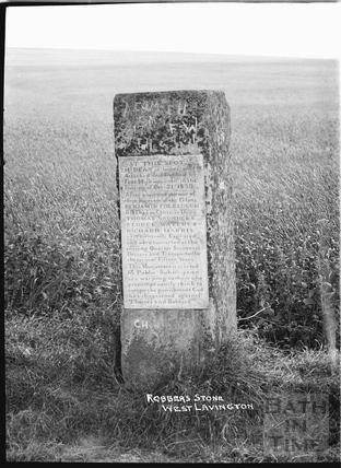 Robbers' Stone, West Lavington c.1920s