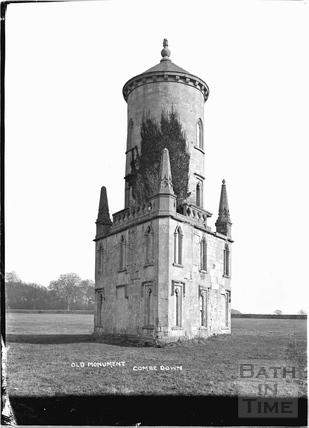 Ralph Allen's Monument, Monument Fields, Combe Down c.1905