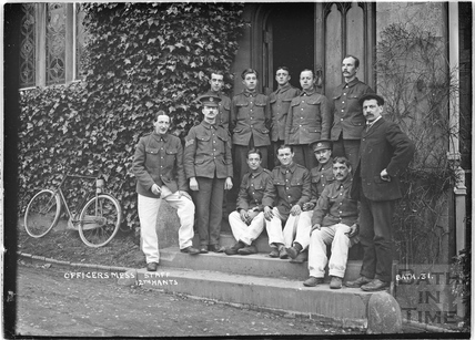 Officer's Mess Staff, 12th Hants Bath No.31 c. April 1915