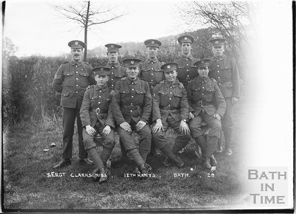 Sgt Clark's nibs, 12th Hants Bath No.29 c. April 1915