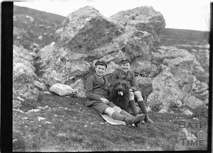 The photographer's twin boys, probably at Bathampton Rocks c.1922