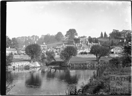 View of Stambridge and Fiveways, Batheaston from across the River Avon c.1920s