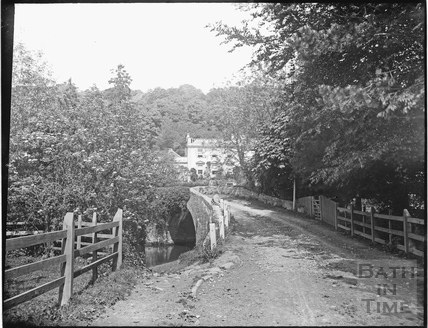 The bridge and approach to Iford Manor c.1905