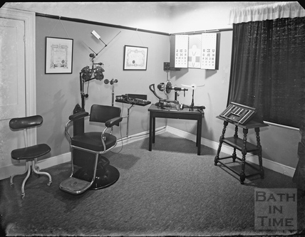 Inside the opticians c.1920s