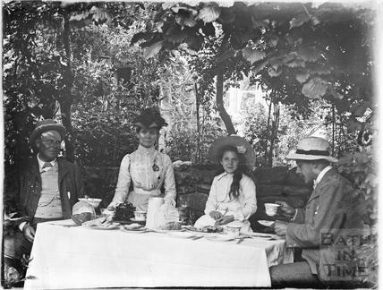 Tea in the garden at Warleigh c.1905