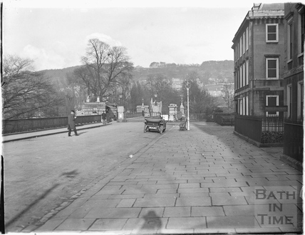 North Parade, looking towards the toll bridge, facing east c.1910