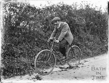 Cyclist at Dry Arch, Warminster Road, Bathampton c.1905