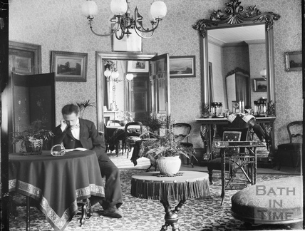 The photographer inside 40 Great Pulteney Street c.1905