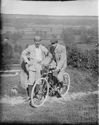 Members of Bath Cycle Club at Dry Arch, Warminster Road, Bathampton c.1905