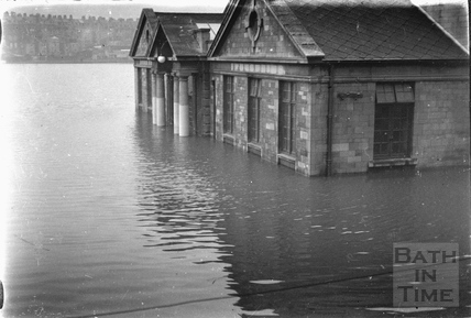 The Recreation Ground and Pavilion in flood 1932