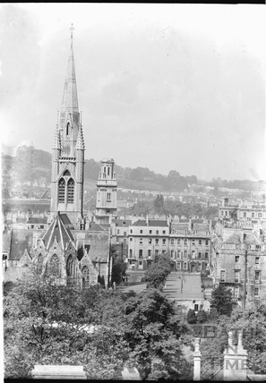 View of St Johns and St James church from Sydney Buildings c.1940s