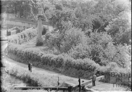 View of the Kennet and Avon Canal from Sydney Buildings, Bath c.1940