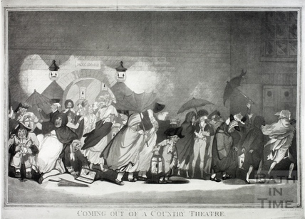 Coming out of a County Theatre - the Old Orchard Street Theatre, Bath1802