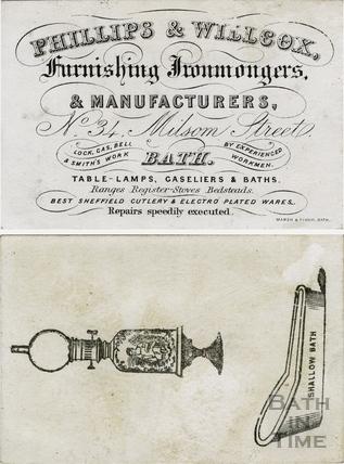 Phillips & Willcox, furnishing Ironmongers & Manufacturers 34 Milsom Street c.1840s