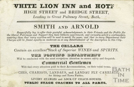 The White Lion Inn and Hotel, High Street and Bridge Street, c.1840