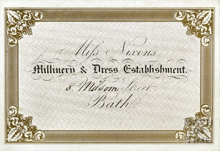 Miss Nixon's Millinery & Dress Establishment, 8 Milsom Street, Bath c.1880s