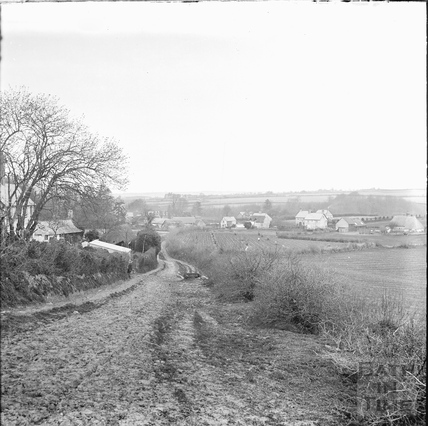 Unidentified rural landscape with buildings c.1890s