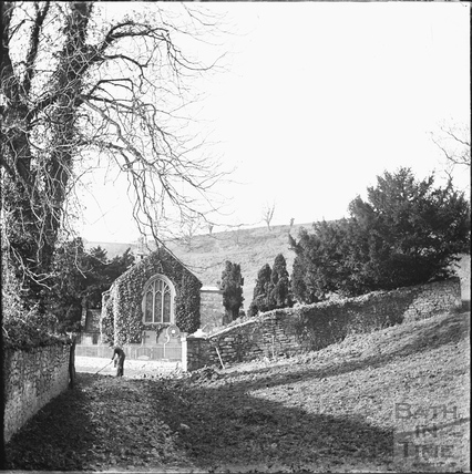 Approach to Charlcombe Church, c.1890s