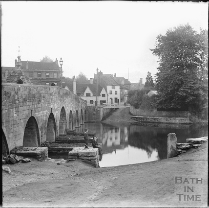 Bridge and ford at Bradford-on-Avon, 1892