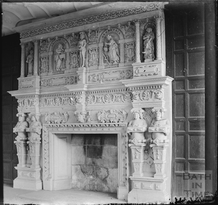 Grand fireplace, South Wraxall Manor c.1890s