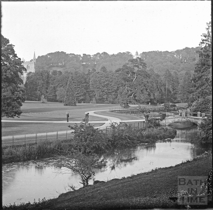 Bridge and drive leading to Castle Combe Manor c.1910