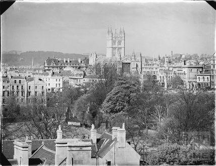 View of Bath Abbey from Sydney Buildings c.1920s