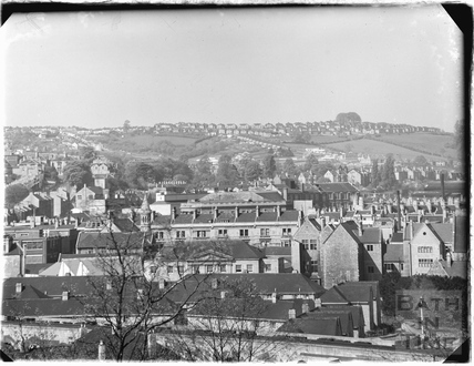 View over Bath looking over the Dolemeads and Southgate towards Southdown Round Hill c.1920s