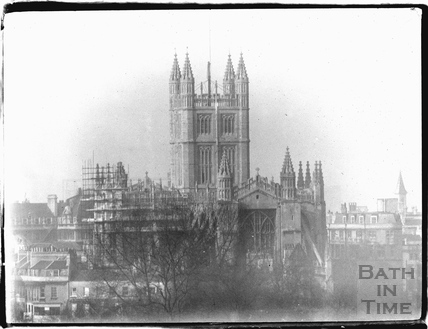 View of Bath Abbey from Sydney Buildings c.1950s?
