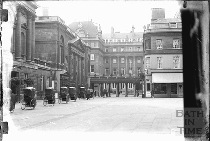 Bath Chairs outside the Pump Room c.1920s